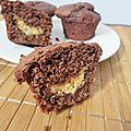 Muffins au chocolat et beurre de cacahuètes (recette sans oeufs)