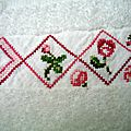 serviette à mains aux roses 9