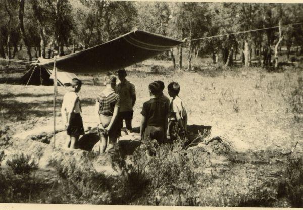 eu maroc 1953 la chêneraie (rabat)