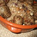 Boulettes d'agneau  l'orientale semoule aux fruits secs (3)