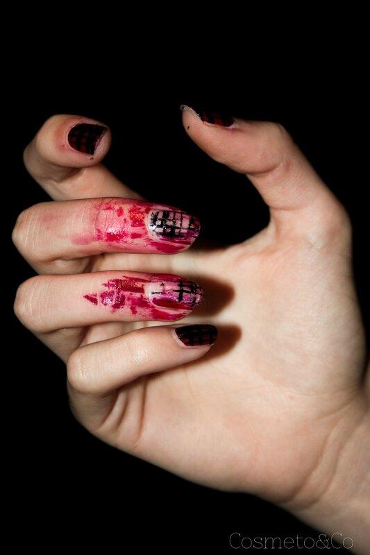 nail art halloween zombie-7