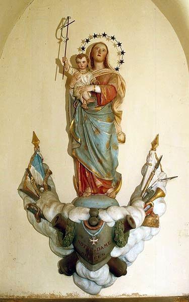 Pancé, chapelle ND des Armée, statue de ND