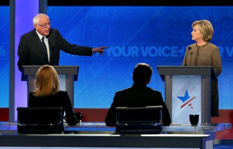 Democratic primary debate 2016 Bernie Sander and Hillary Clinton