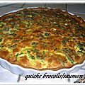 QUICHE BROCOLIS AU SAUMON FUME 