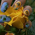 Nail art tournesols Crocongle