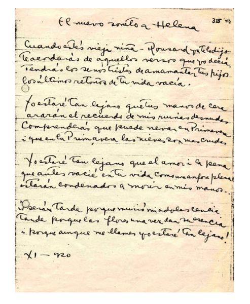 soneto Helena Neruda