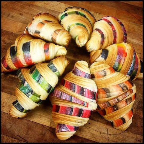 croissants multicolores kiflie s du pain pour demain le blog de moon. Black Bedroom Furniture Sets. Home Design Ideas