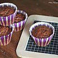 Des muffins au chocolat et caramel.