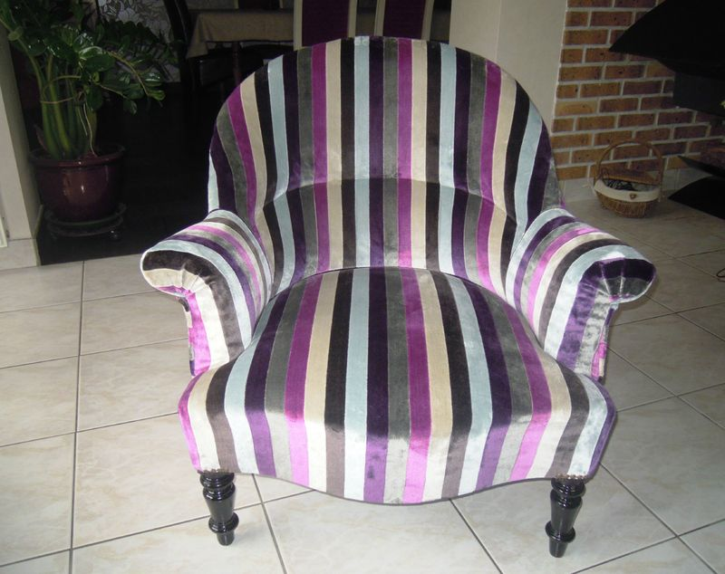 Fauteuil crapaud napol on iii stephane poissel tapissier d co - Restauration fauteuil crapaud ...