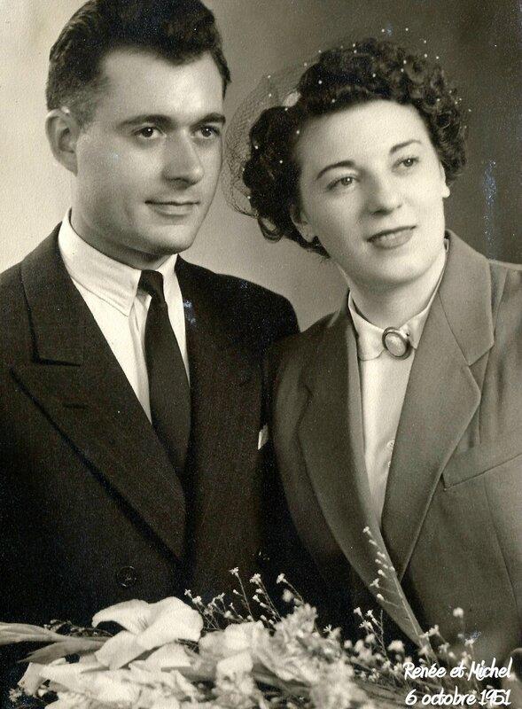 Renée et Michel 6 octobre 1951 a
