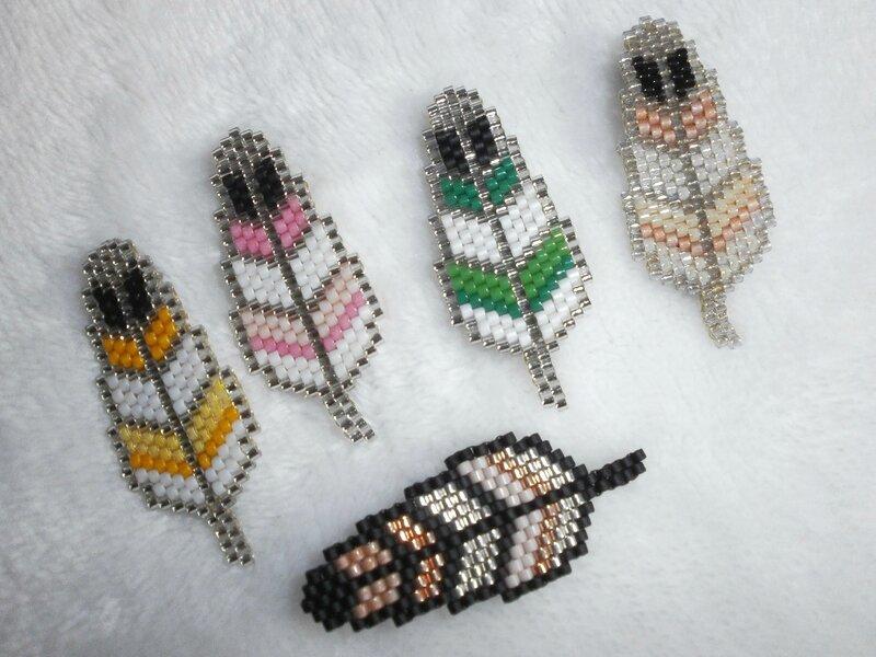 plumes perles miyuki