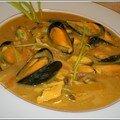 Ulesnage de moules de bouchot à la bisque de homard et safran