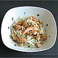 Salade thaïe de nouilles de riz