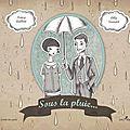 Sous la pluie... - nancy guilbert et lilly seewald