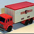 Lesney Matchbox 42 E 1 SF Mercedes Container Truck
