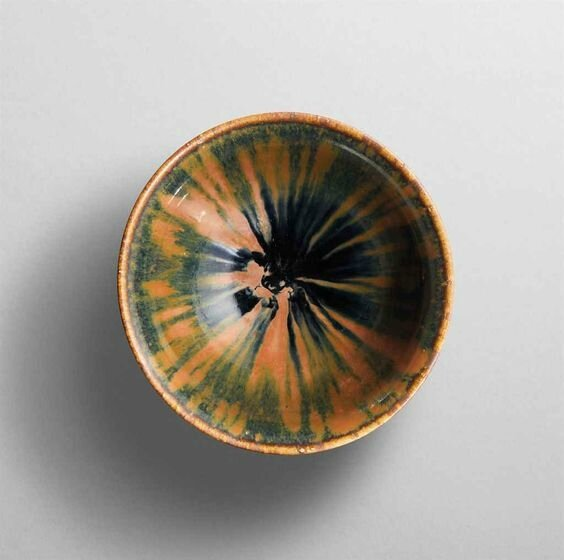 A Henan russet-splashed black glazed conical bowl, Northen Song-Jin dynasty (960-1234)