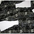 2 chutes gros tweed chanel gris et noir