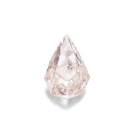 Property of Sir Sean Connery. Fancy orangy pink diamond pendant