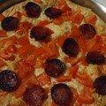 pizza formaggio pomodori e salame