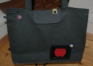 sac cabas pomme rouge