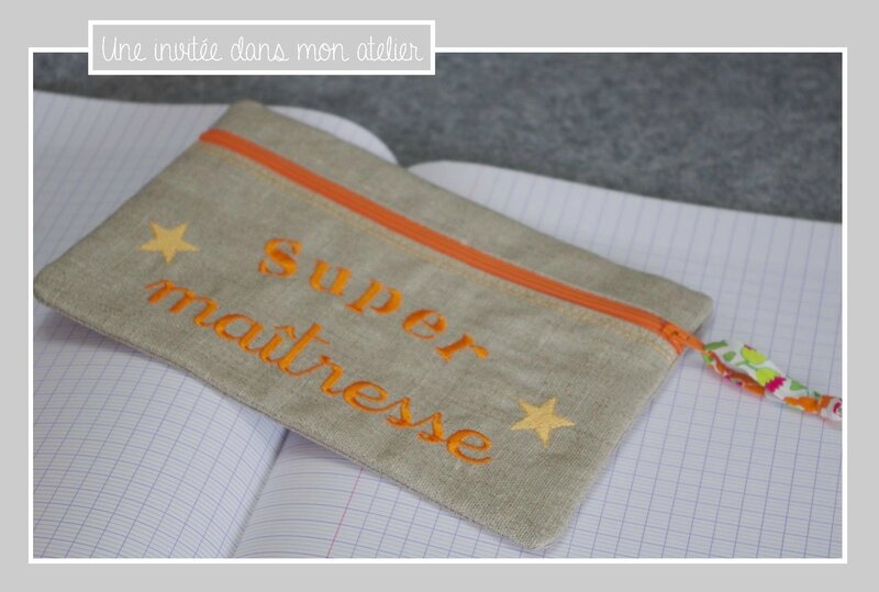 trousse-lin enduit-super maîtresse-Liberty betsy orange