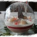 Boule enchantée cassis litchis