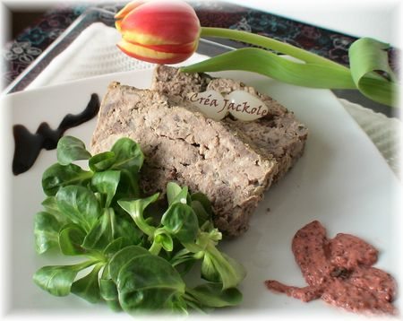 terrine chevreuil moutarde cassis
