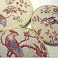 Composition oiseaux brodés Marimerveille