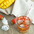 Thé glacé mirabelles, fraises & mangue...ig bas (battle food #20)