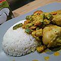 Poulet lait de coco suzi wan curry et courgettes - concours tous accro au lait de coco