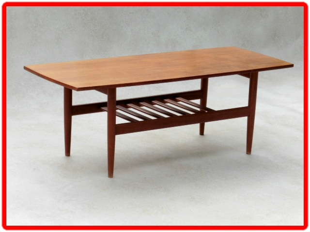 table vintage scandinave G. JALK 1960