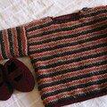 pull rayé alpaga et surnat, cadeau de Faustine