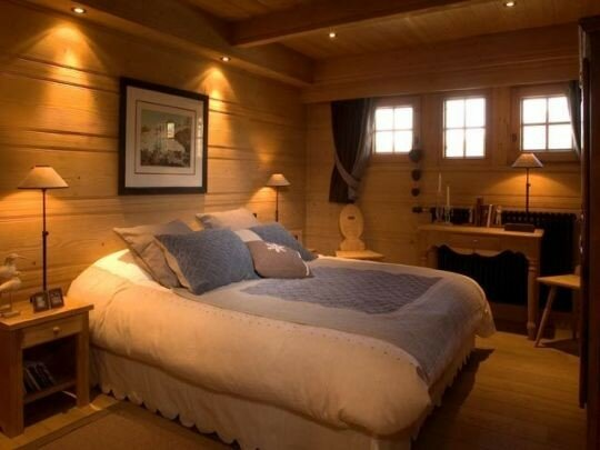 Chambre pont style montagne for Chambre style chalet