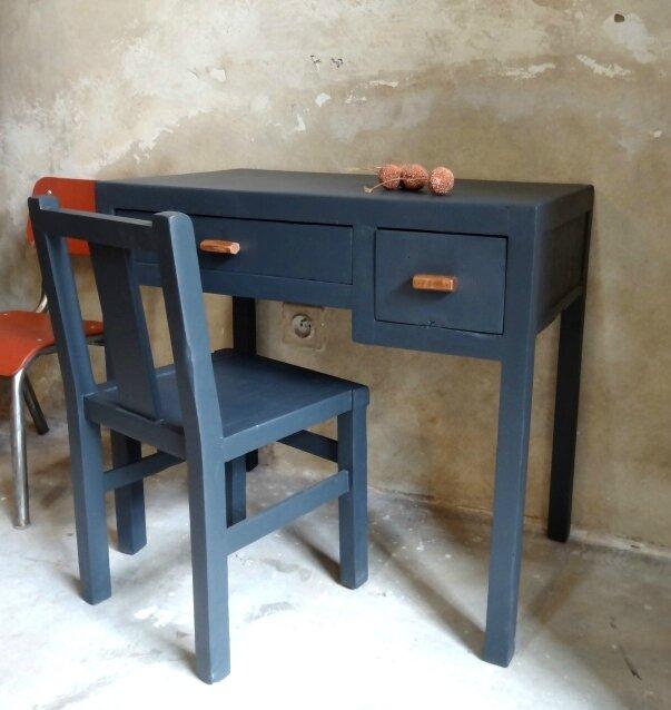 bureau et chaise enfant retro 5