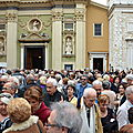 Inauguration de la faade cathdrale Sainte-Rparate rnove