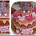 Fraisier à étage (wedding cake fraisier)