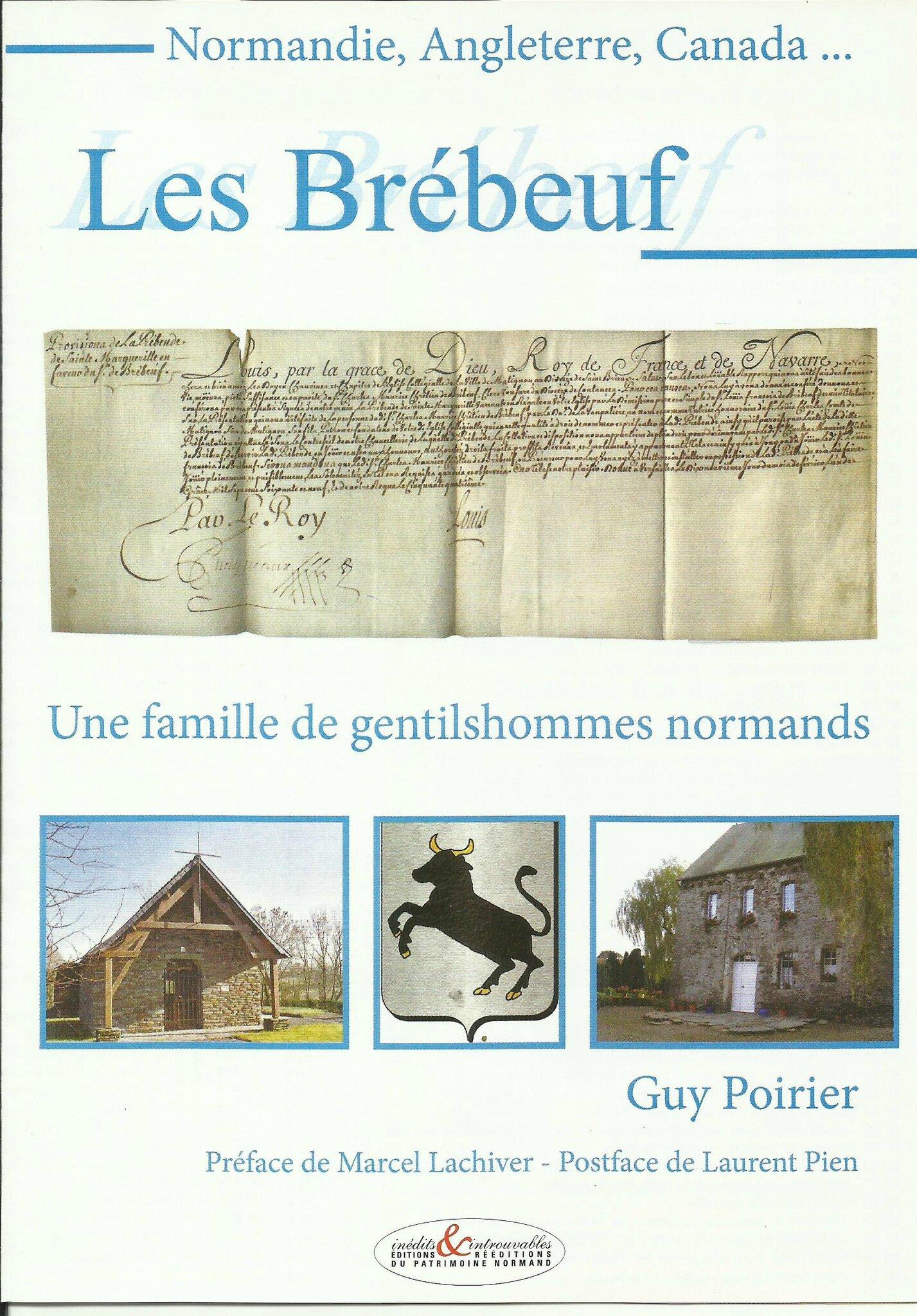 Un nouvel ouvrage sur l'HISTOIRE DE LA NORMANDIE les BREBEUF