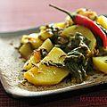 Aloo palak (pommes de terre et épinards)