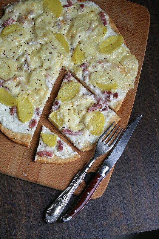 Pizza Raclette - Que faire avec reste raclette Passion culinaire