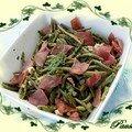 Poêlée de haricots verts au bacon et poulet puis bye bye !