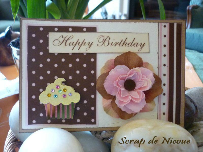 Carte d'anniversaire cupcake 1- décembre 2011
