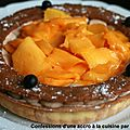 Tarte marron-mangue et myrtilles