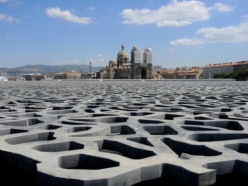 Marseille, le Mucem, vue sur la Major 1 (13)