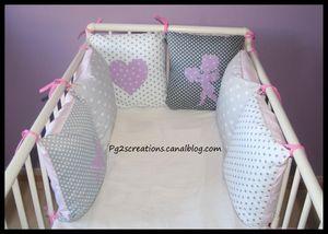 tour de lit etoiles grises
