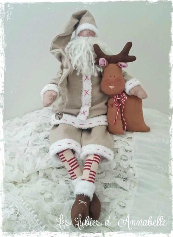 Père Noël Tilda couleur lin