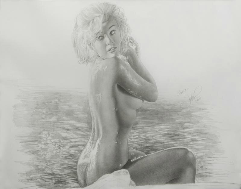 monroe art Marilyn nude