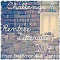Challenge 1% rentrée littéraire 2014 - le bilan