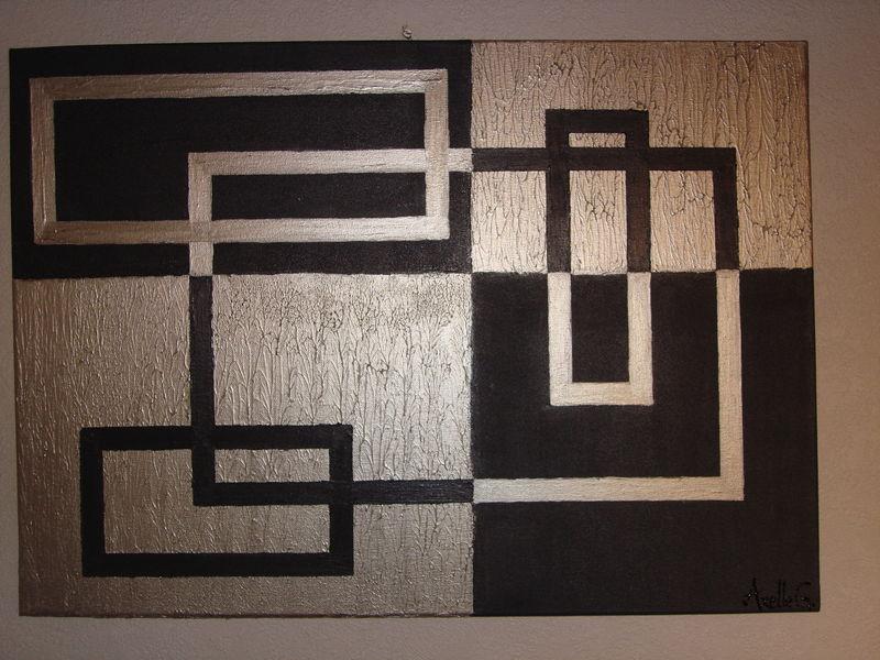 N°14 Peinture Acrylique Gris Anthracite Et Argent - Les Peintures