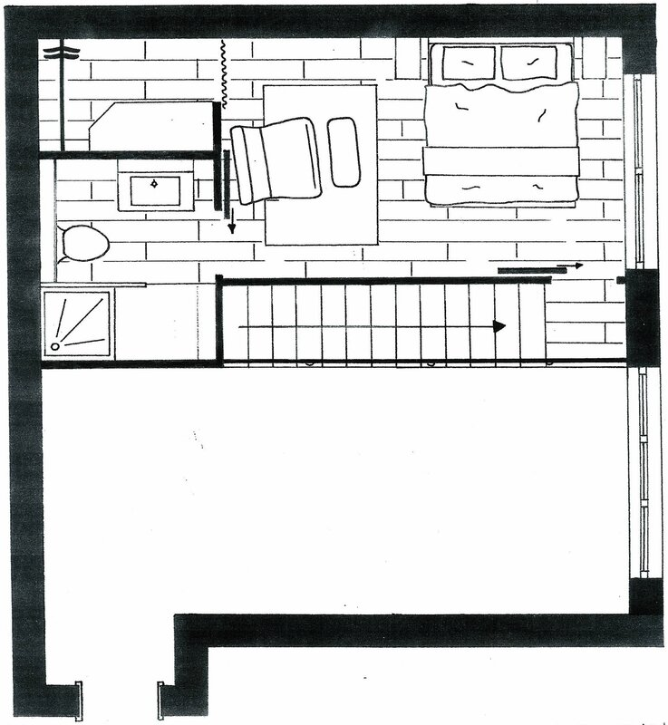 Am nagement d 39 un studio avec mezzanine 53 m lignes formation d coration d 39 int rieur for Plan amenagement studio 25m2