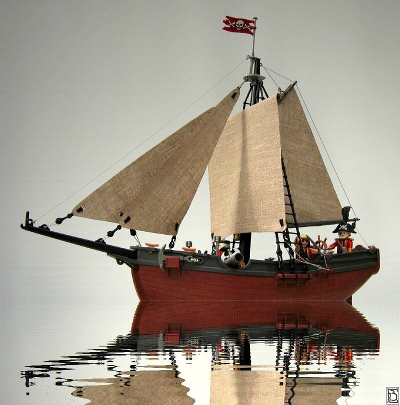 l 39 ach ron bateaux pirates playmobil. Black Bedroom Furniture Sets. Home Design Ideas